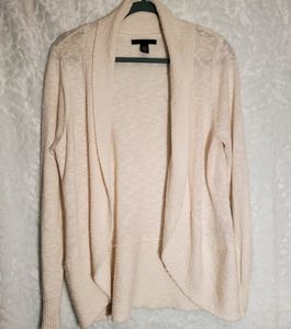 Kenneth Cole Open Front Cream Cardigan Size L